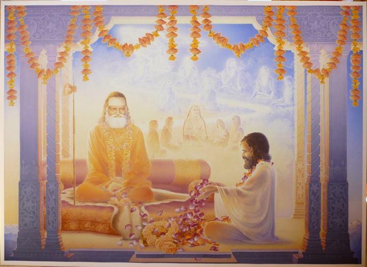 Guru Dev and Maharishi (painting)