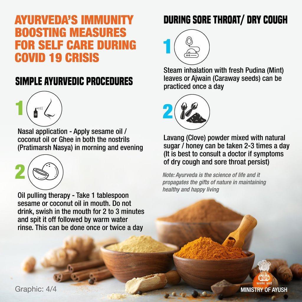 AYUSH Ministry releases advisory on Ayurveda's immunity boosting measures